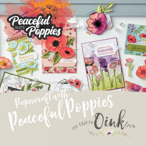 Peaceful Poppies Papercraft Classes in Spaldwick, Dunelm Mill, Huntingdon, Cambridgeshire by Mikaela Titheridge, UK Independent Stampin' Up! Demonstrator, The Crafty oINK Pen. Supplies available through my online store 24/7