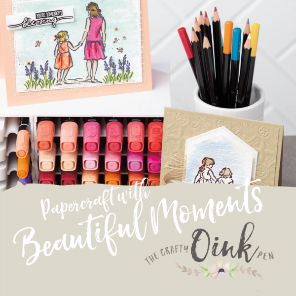 Beautiful Moments created with Watercolour and some mindful colouring by Mikaela Titheridge, UK Independent Stampin' Up! Demonstrator, The Crafty oINK Pen. Supplies available through my online store 24/7