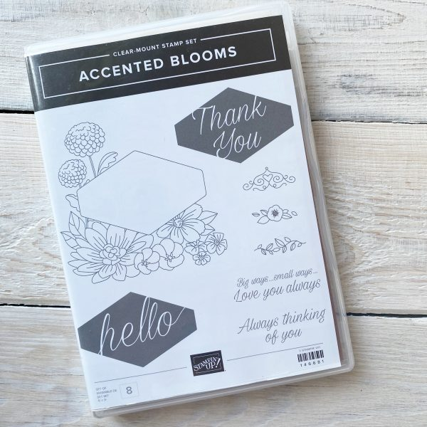 Retired Stamp Set for Sale here - Accented Blooms - Mikaela Titheridge, UK Independent Stampin' Up! Demonstrator, The Crafty oINK Pen. Stampin' Up! Products available through my online UK store 24/7. Use my Shopping Code at checkout for personal rewards from me.