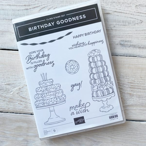 Birthday Goodness Retired Stamp Set available to purchase from Mikaela Titheridge, UK Independent Stampin' Up! Demonstrator, The Crafty oINK Pen. Stampin' Up! Products available through my online UK store 24/7. Use my Shopping Code at checkout for personal rewards from me.
