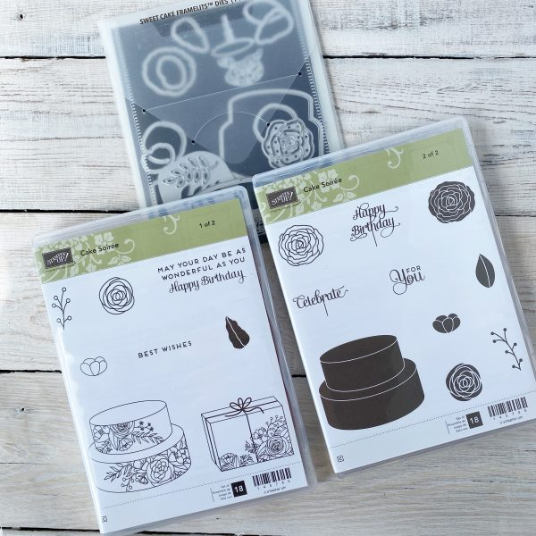 Retired Bundle, Cake Soiree available from Mikaela Titheridge, UK Independent Stampin' Up! Demonstrator, The Crafty oINK Pen. Stampin' Up! Products available through my online UK store 24/7. Use my Shopping Code at checkout for personal rewards from me.