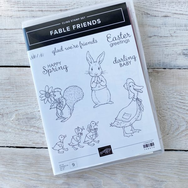 Retired Fable Friends Stamp Set available here, along with current Stampin' Up! Products available from Mikaela Titheridge, UK Independent Stampin' Up! Demonstrator, The Crafty oINK Pen. Stampin' Up! Products available through my online UK store 24/7. Use my Shopping Code at checkout for personal rewards from me.
