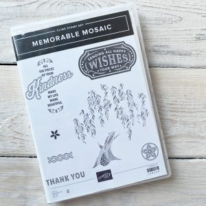 Retired Memorable Mosaic Stamp Set available to purchase from Mikaela Titheridge, UK Independent Stampin' Up! Demonstrator, The Crafty oINK Pen. Stampin' Up! Products available through my online UK store 24/7. Use my Shopping Code at checkout for personal rewards from me.