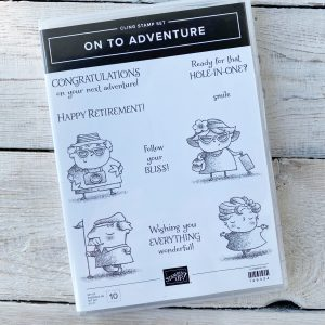 Retired On to Adventure Stamp Set available here, along with current Stampin' Up! Products available from Mikaela Titheridge, UK Independent Stampin' Up! Demonstrator, The Crafty oINK Pen. Stampin' Up! Products available through my online UK store 24/7. Use my Shopping Code at checkout for personal rewards from me.