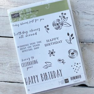 Retired Perennial Birthday Stamp Set available here, along with current Stampin' Up! Products available from Mikaela Titheridge, UK Independent Stampin' Up! Demonstrator, The Crafty oINK Pen. Stampin' Up! Products available through my online UK store 24/7. Use my Shopping Code at checkout for personal rewards from me.