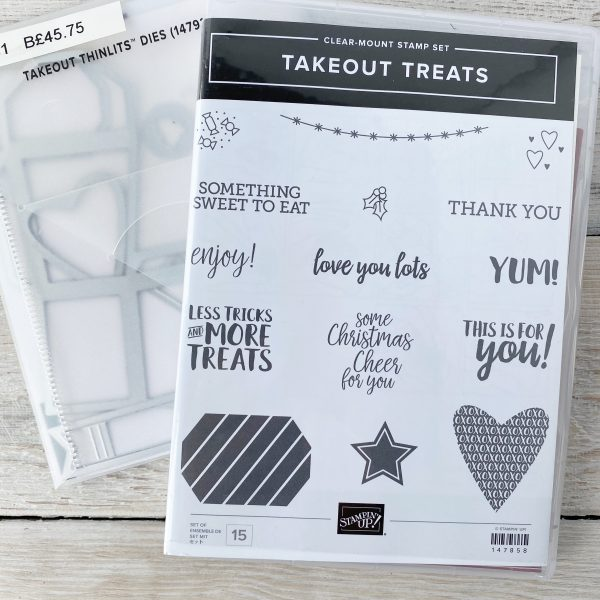Retired Bundle, Takeout Treats available from Mikaela Titheridge, UK Independent Stampin' Up! Demonstrator, The Crafty oINK Pen. Stampin' Up! Products available through my online UK store 24/7. Use my Shopping Code at checkout for personal rewards from me.