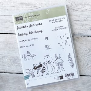 Retired We Must Celebrate Stamp Set available for purchase from Mikaela Titheridge, UK Independent Stampin' Up! Demonstrator, The Crafty oINK Pen. Stampin' Up! Products available through my online UK store 24/7. Use my Shopping Code at checkout for personal rewards from me.
