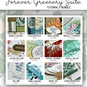 Stampin' Up! Forever Greenery Tutorials by the All Star Tutorial Bundle available from Mikaela Titheridge, UK Independent Stampin' Up! Demonstrator, The Crafty oINK Pen. Buy your Stampin' Up! Products through my online store 24/7. Use my Shopping Code at checkout for personal rewards from me. Can be found here on my Blog.