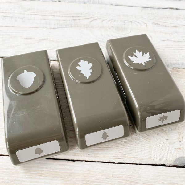 Trio of punches for Beautiful Autumn, acorn, and leaves