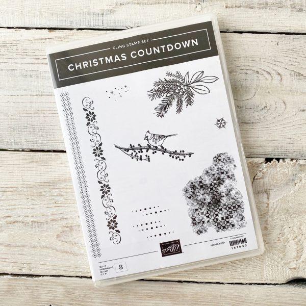 Christmas Countdown with dots, flourish and cardinal