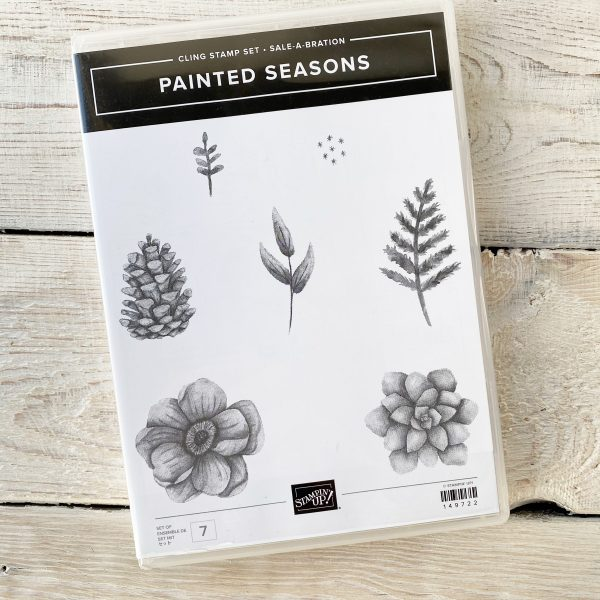 Painted Seasons Stamp Set with Pine Cones, Leaves and flowers