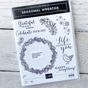Christmas Seasonal Wreath stamp set from Stampin' Up!