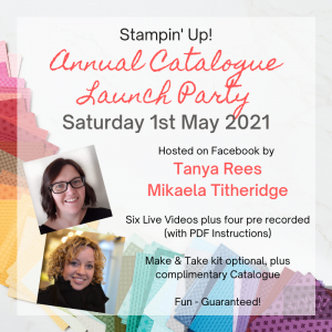 Stampin' Up! Online Annual Catalogue Launch Party 2021 Advert