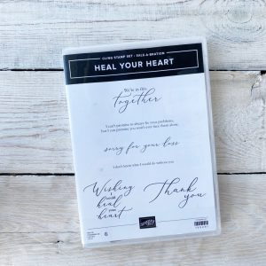 Stampin' Up! Heal your heart stamp set