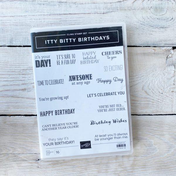 Stampin' Up! Itty Bitty Birthdays stamp set