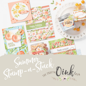 Stampin' Up! You're a Peach Suite cards for my All Day Event