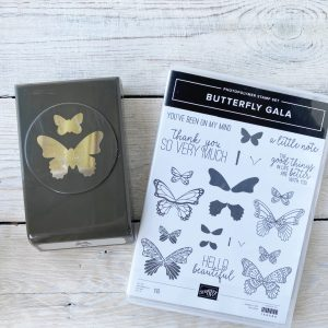 Stampin' Up! Retired Stamp set and punch Butterfly Gala