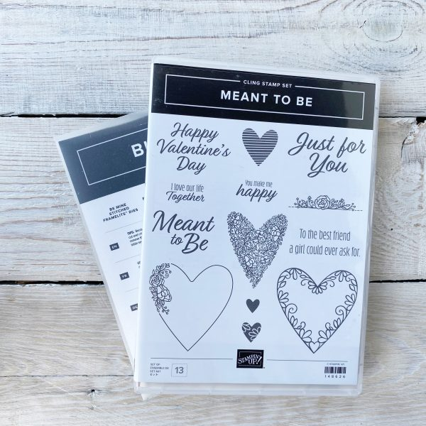 Stampin' Up! Retired Stamp set and Die Bundle Meant to Be