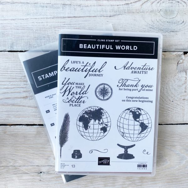Stampin' Up! Retired Stamp set and Die Bundle Beautiful World