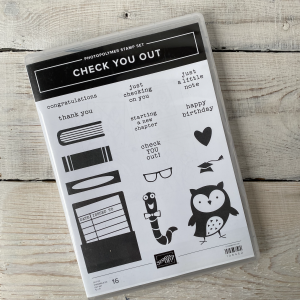 Stampin' Up! retired stamp set check you out