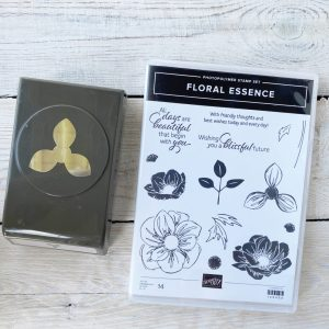 Stampin' Up! Retired Stamp set and punch floral essence