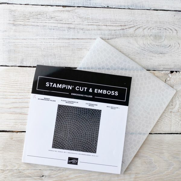 Stampin' Up! retired embossing folder Mosaic
