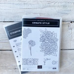 Stampin' Up! Retired stamp set and die bundle Ornate Style