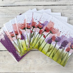 Stampin' Up! retired papers peaceful poppies