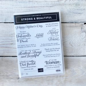 Stampin' Up! Strong and Beautiful stamp set