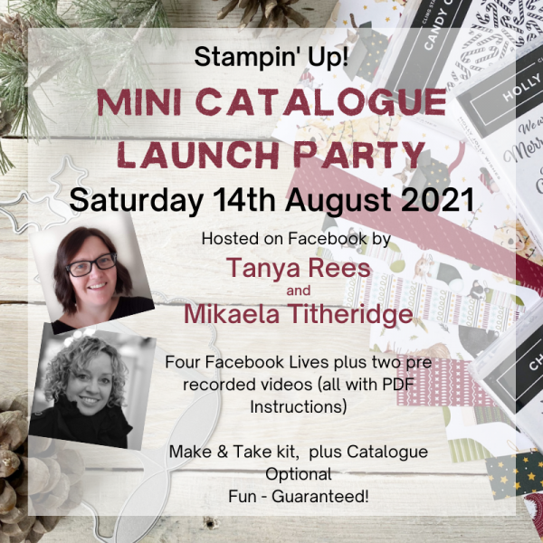 Advert for Stampin' Up! August to December 2021 Mni Catalogue Launch Party