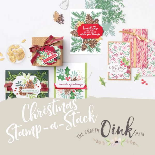 Christmas Stamp a stack using Painted Season Suite