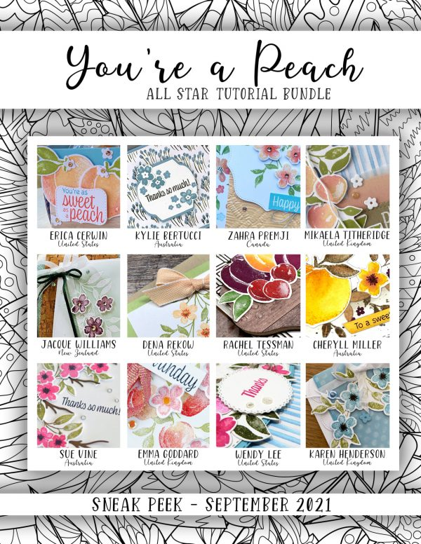 Tutorial Bundle using You're a Peach by Stampin' Up!